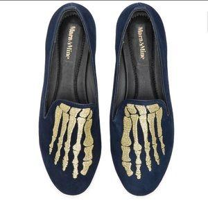 Mara & Mine Suede Skeleton Slipper!